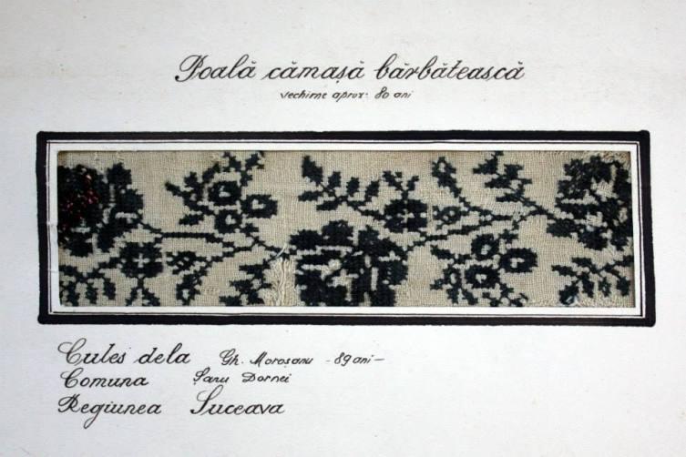 poala de camasa barbateasca, Bucovina, cca 1855